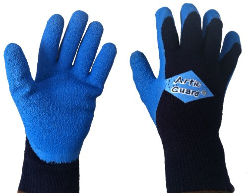 Best Work Gloves >> BAGG ARCTIC GUARD Cold Weather Grip Glove (Blue, Large ...