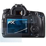 Canon EOS 70D Protecteur d'écran - Set de 3 atFoliX FX-Clear ultra claire Film Protecteur Film Protection d'écran