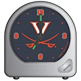 WinCraft NCAA University of Virginia Alarm Clock, Black