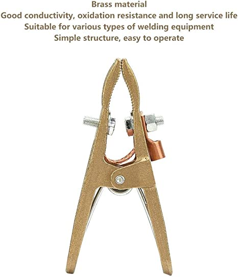 Fafeicy Welding Ground Clamp 500A 260//300//500A Brass Material A Shape Ground Welding Earth Clamp for Welding Machine for Various Types of Welding Equipment