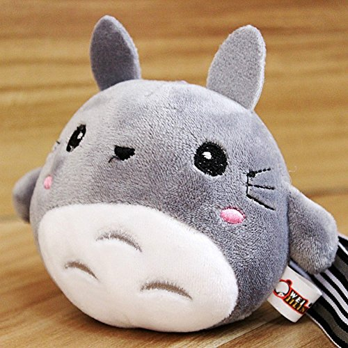- Sytian Cute My Neighbor Totoro Plush Toys Stuffed Toys My Neighbor Totoro Keychain Key Ring Key Pendant - Totoro Gifts & Crafts (Grey)