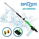 Hydro Jet Sprayer for High Pressure Power Washer Wand - 30 Inch + 9 Inch Long Extendable Sprayer, Hose Nozzle, for Car Washer, Window Water Cleaner, Glass Cleaning Tool, 2 Tips- Green