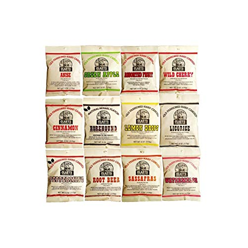 Gum Old Fashioned - Claeys Old Fashioned Hard Candy - Variety 12 Pack - All Flavors - Since 1919
