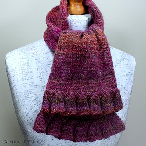 Knitting Pattern Foxglove Ruffle Scarf (Knit Ruffle Pattern)
