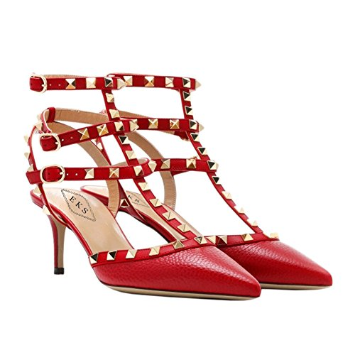 Mujer EKS sandalias EKS Linien sandalias EKS Mujer Rot Rot sandalias EKS Linien Linien Rot Mujer 14Pq7T