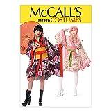 McCall's Patterns M7270 Kimono Top, Skirt, OBI & Belt, D5 (12-14-16-18-20)