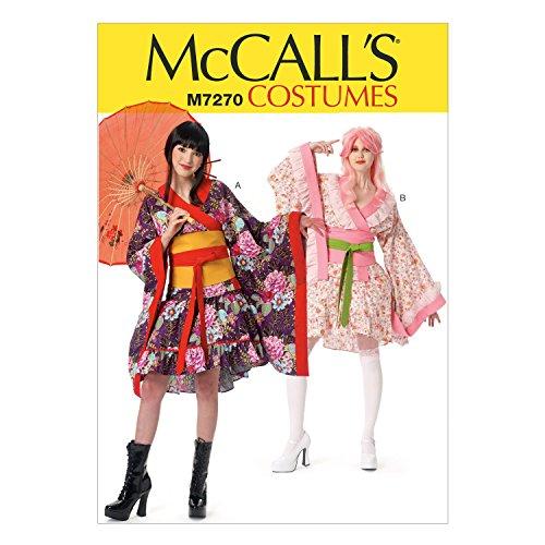 McCall's Patterns M7270 Kimono Top, Skirt, OBI & Belt, AX5 ()
