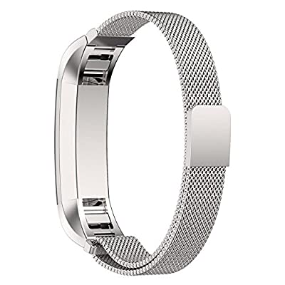 Fitbit Alta Band Replacement, Taotree Fully Magnetic Closure Clasp Mesh Loop Milanese Stainless Steel Replacement Accessory Bracelet Strap for Fitbit Alta Fitness Tracker