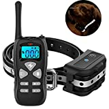 Vanleng Dog Training Collar With Remote 1800ft [Reflective Straps] Waterproof Rechargeable with Beep/Vibration/Electric Shock Modes for Small Medium Large Dogs (for 1 dog, Black)