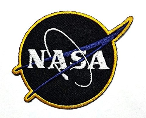 NASA USA (Black) Iron on Patch by 3A1Y