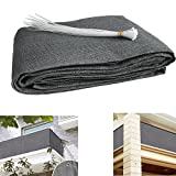 Balcony visibility UV protection opaque weather-resistant balcony covering balcony covering with cable ties HDPE special fabric ;L:16.5ft x H:35in