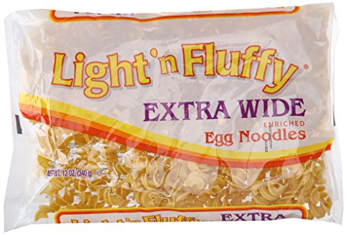 Light 'N Fluffy Extra Wide Egg Noodles, 12 (Light Pasta)