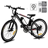 Hosmat Electric Mountain Bike with 250W Removable Lithium-Ion Battery (36V, 8AH), E-Bike with Battery Charger
