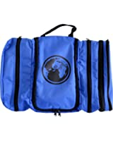 Davidsbeenhere Hanging Travel Toiletry Cosmetics Bag Kit (blue)