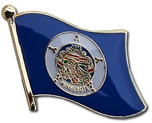ALBATROS Pack of 6 State of Minnesota Flag Lapel Pin for Bike Hat and Cap for Home and Parades, Official Party, All Weather Indoors Outdoors