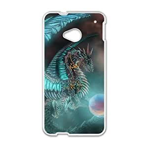 Blue Dragon Hard Plastic Phone Case for HTC One M7 Shell Phone ZDSVEN(TM)