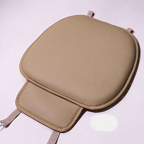 EDEANYN Thick seat Cushion 5cm Thickness Driver seat Cushion adds Additional Height to The car seat (Beige-b)