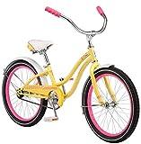 Schwinn Girls Maddy Cruiser Bicycle, 20' Wheel, Yellow