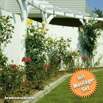Cañizo de Rügen, plástico, color blanco, 50 trabillas, 3 m, perfil en U 80 x 300 cm: Amazon.es: Jardín