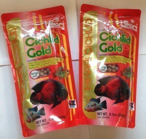 Hikari Cichlid gold By Floating Large Pellet 250G Pack Of Two