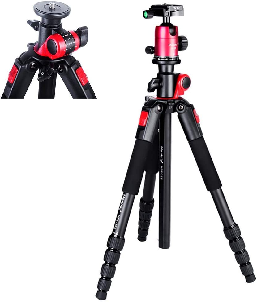 for Digital Camera Photography Camera Tripod for DSLR with 360/° Panoramic Ball Head and 3-Speed Angle Adjustment Angle Mengen88 Portable Professional Travel Tripod