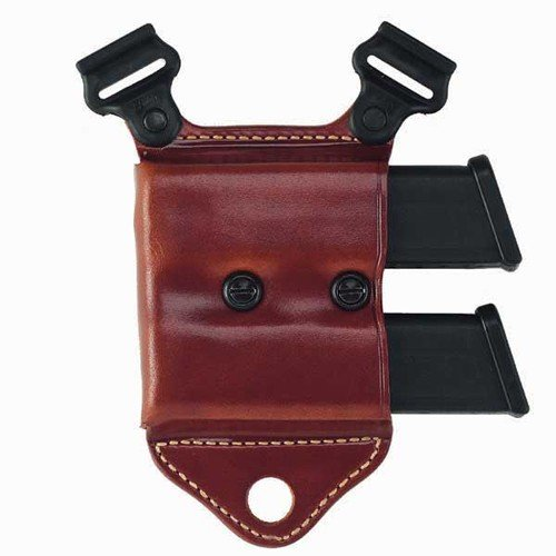 Galco HCL24 Horizontal Magazine Carrier For Shoulder System, .40 Staggered Polymer, Ambidextrous, Tan by GALCO INTERNATIONAL