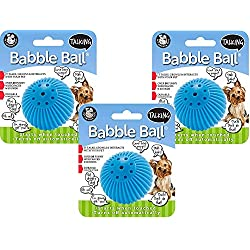 Pet Qwerks Talking Babble Ball Toy for Dogs and Cats, Small - 3 Pack