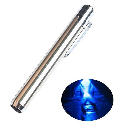 AOLVO 365nm - Bolígrafo con Detector de luz Blanca con Agente Fluorescente para detección de Billetes Falsos