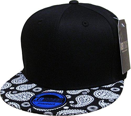KBETHOS NW-1469BA BANDANA Snapback Baseball Cap - BLK