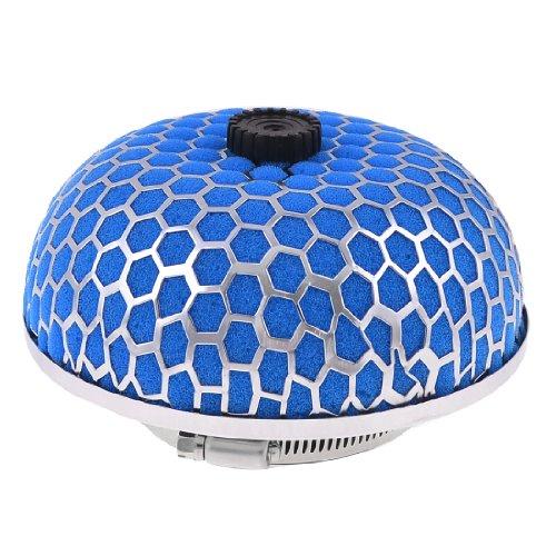"uxcell Car 3"" 76mm Diameter Air Intake Filter Mushroom Shape Blue Silver Tone"
