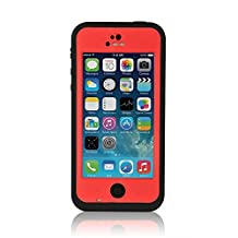 TPLB High Performance Waterproof Case for iPhone 5C-Red