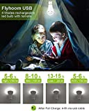 Flyhoom 2 Pack Rechargeable LED Light Bulb with