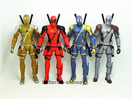 New Set of 4 pcs X-Men Deadpool Wade Wilson PVC Action Figure Toy 7