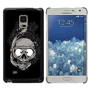 Be Good Phone Accessory // Dura Cáscara cubierta Protectora Caso Carcasa Funda de Protección para Samsung Galaxy Mega 5.8 9150 9152 // Scuba Skull