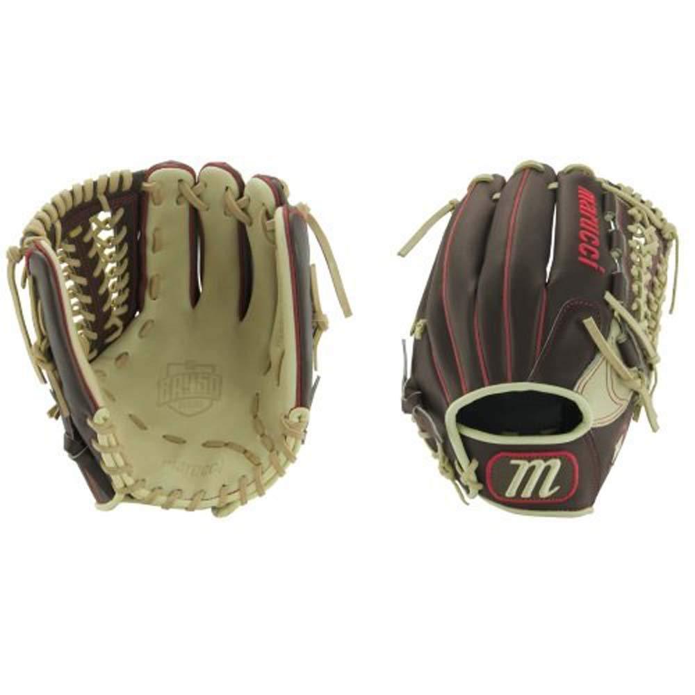 Marucci MFGBR12PT-GM/CM-RG BR450 Series Baseball Fielding Gloves, Gumbo/Camel, 12''