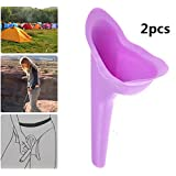 (2 pcs ) Dcolor Portable Female Women Urinal Camping Travel Urination Toilet Urine Device