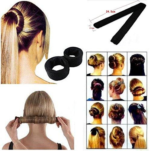Newly Hair Updo Wrap Fold Snap French STYLE Bun Maker Hair Magic Styling - Mall Salt Lake