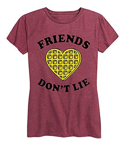 Liyuandian Womens Stranger Things Shirt Summer Short Sleeve T Shirts Friends Don't Lie Slogan Tee B-red, Large