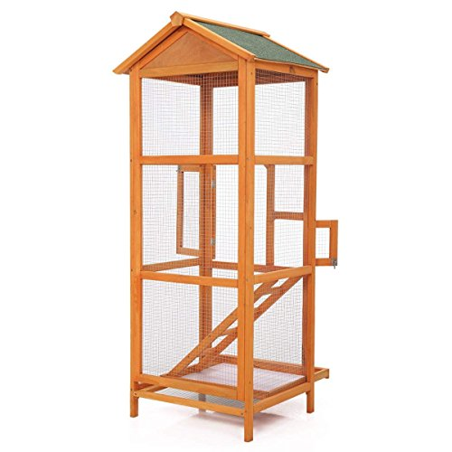 JAXPETY 65'' Large Bird Cage Metal Parrot Aviary Birds House Pet Play Perch stand Parakeet by JAXPETY