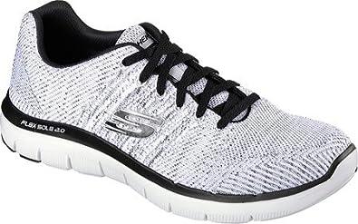 Details zu NEU SKECHERS Herren Sneakers Turnschuhe Memory Foam BURST SHINZ Weiß