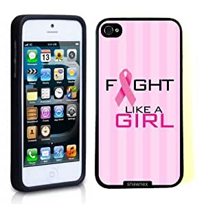 Iphone 5 5S Case Thinshell Case Protective Iphone 5 5S Case Shawnex Fight Like A Girl Pink Cancer Awareness