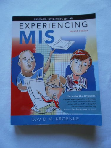Experiencing MIS (Annotated Instructor's Edition)