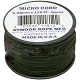 Black MS01 Micro Paracord 1.18mm x 125'