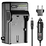 Neewer LED Battery Charger for Canon LP-E6 with US Plug EU Plug Adapter Car Charger Adapter,Fit Canon EOS 5D 5DS 60Da 7D 60D Mark II III 80D Digital Camera BG-E14 BG-E13 BG-E11 BG-E9 BG-E7 BG-E6 Grip