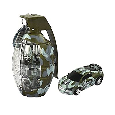 "(Ship from USA) 2.7"" Army Camouflage Mini Grenade RC Car Remote Control Christmas Toy Gift Green: Toys & Games"