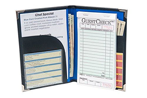 Server Book For Waitress   Waitress Book That Fits In Server Apron   Waitstaff Organizer Book That Fits Server Pads   Servers Wallet   Waiter Book   Unlimited Lifetime Guarantee