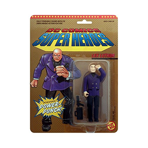 DC Comics Super Heroes Lex Luthor with Button Activated Power-Punch