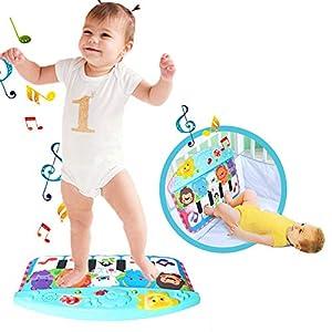 Luerme Piano Play Mat Baby Foot Piano Play Musical Mat Baby Early Education Musique Piano Clavier Tapis Tapis Musique Électronique pour Enfants Jouets Bébé Cadeau De Noël 4