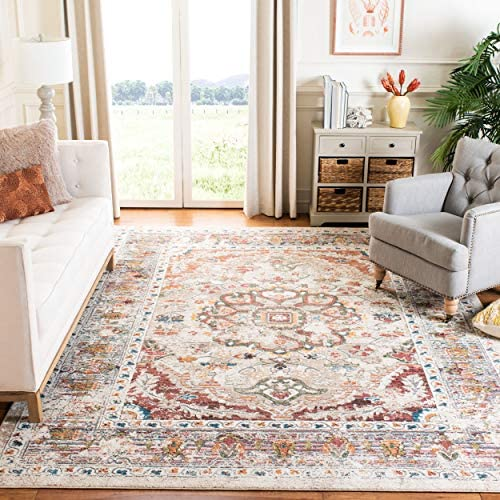 Safavieh Antiquities Collection AT64A Handmade Traditional Red and Multi Area Rug 5 x 8