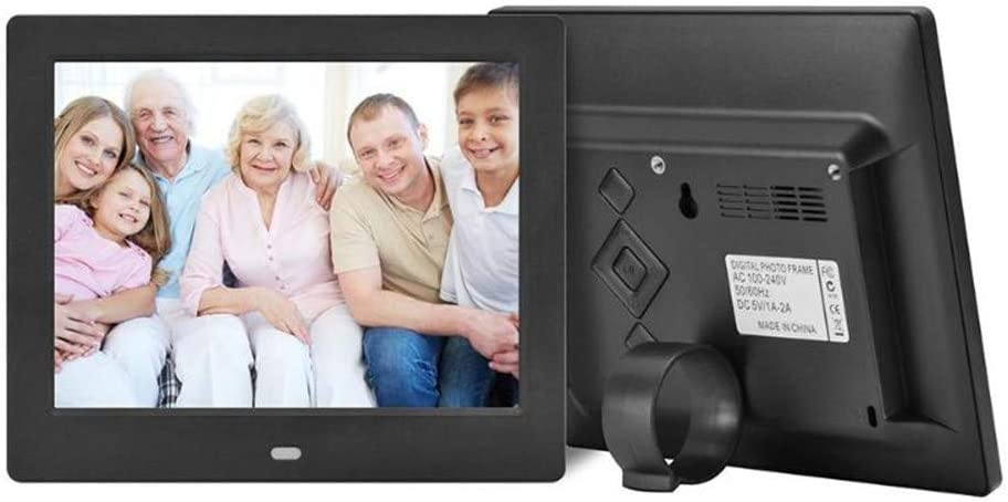Remote Control Included,White Support MP3,720P//1080P Video Player,Calender,E-Book Digital Photo Frame 8 Inch 800/×600 HD IPS LCD and Motion Sensor
